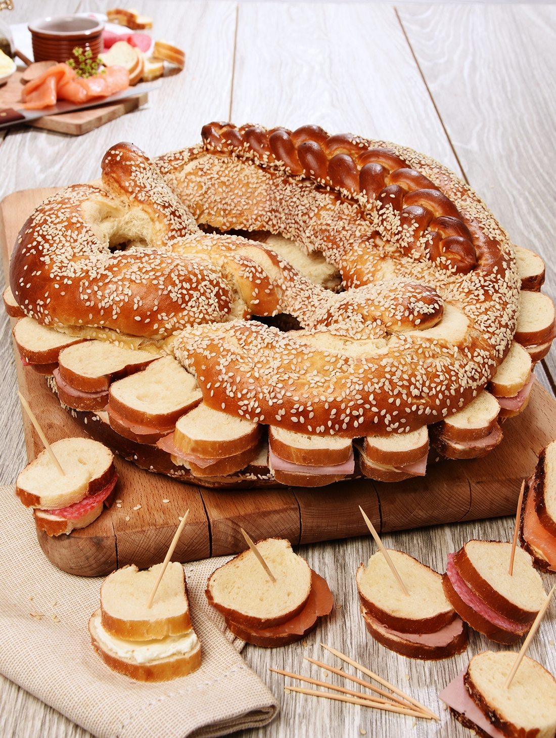 Bretzel 40 toasts