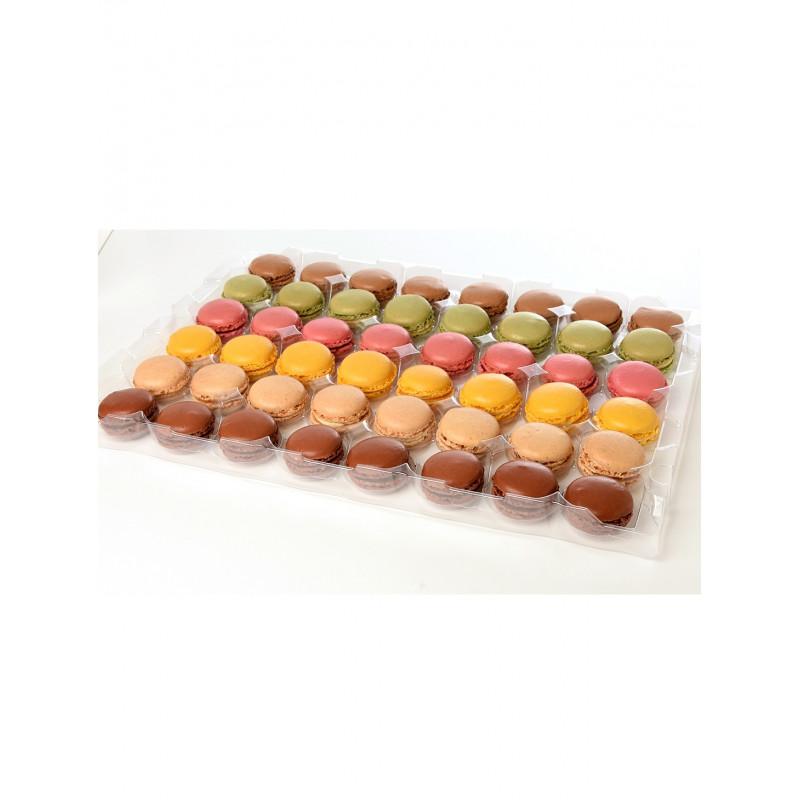 48 Mini macarons assortis