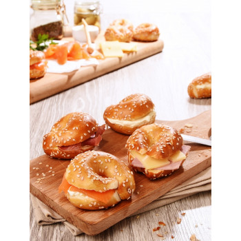 20 Mini Bagels Bretzel traiteur Burgard