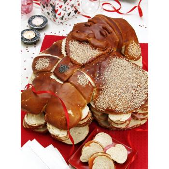 Pain surprise Père Noël 110 toasts apéritif noël