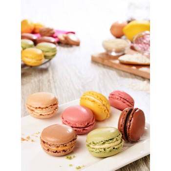 48 Mini macarons assortis