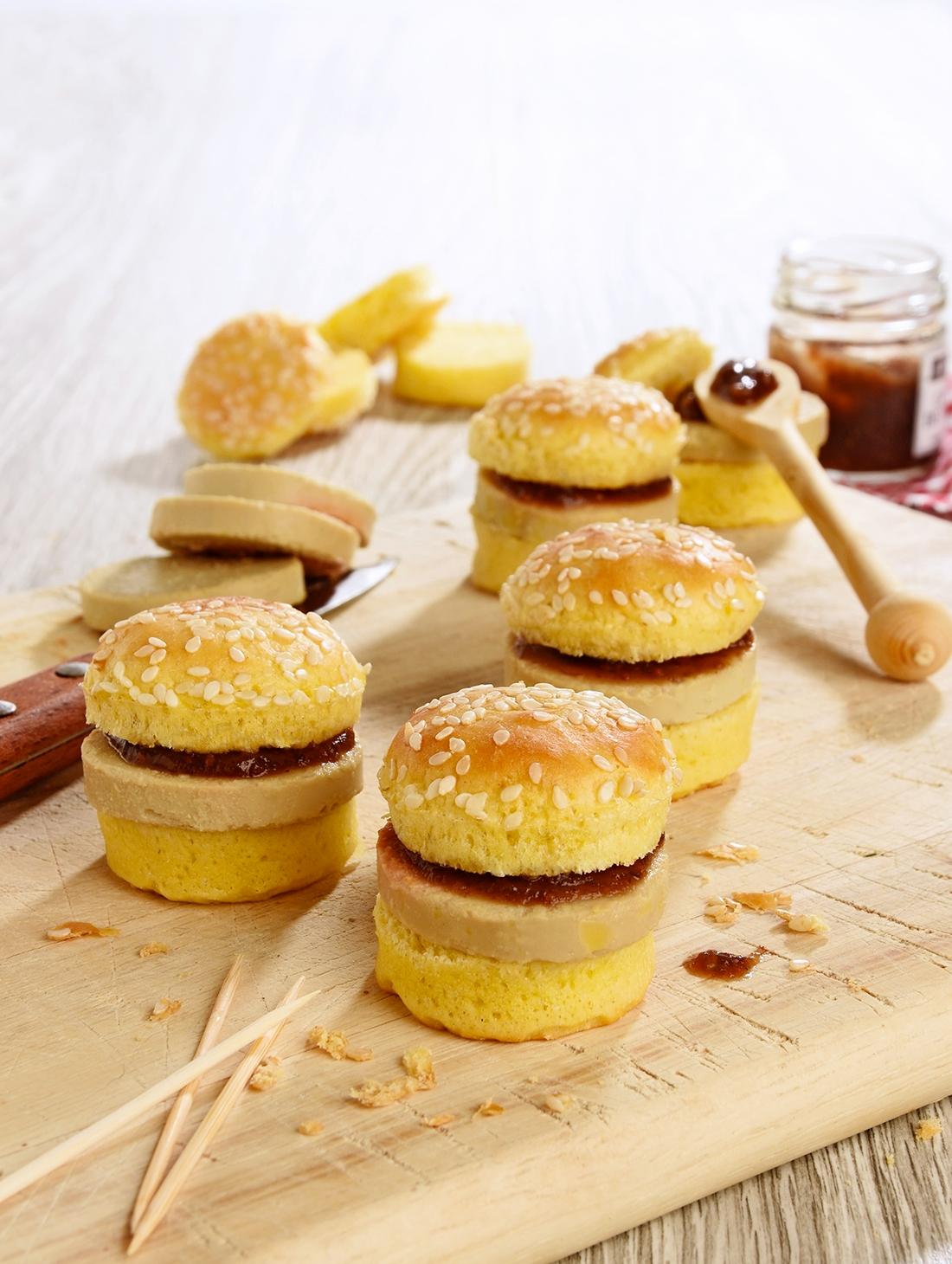 20 Mini Burgers au bloc de Foie gras