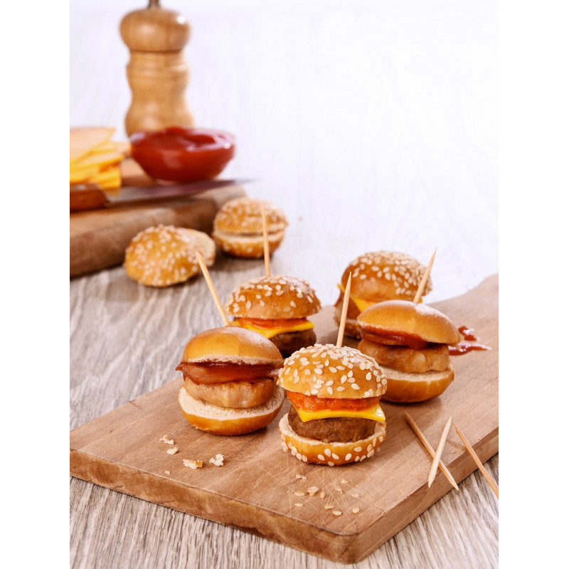 Duo 20 Mini burgers bretzel