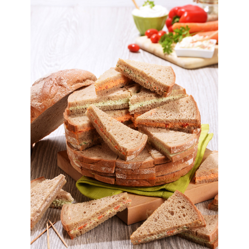 Pain surprise végétarien 50 toasts